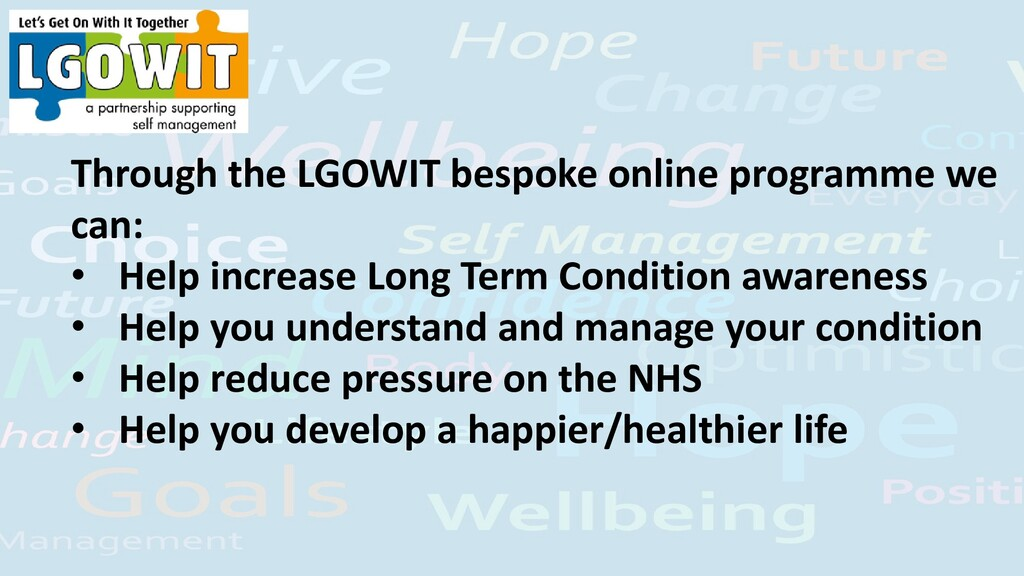Through the LGOWIT bespoke online programme we ...