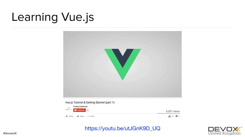 #DevoxxUK Learning Vue.js https://youtu.be/utJG...