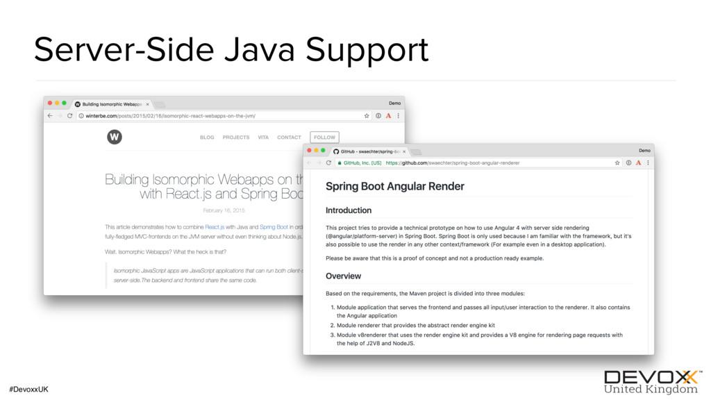 #DevoxxUK Server-Side Java Support
