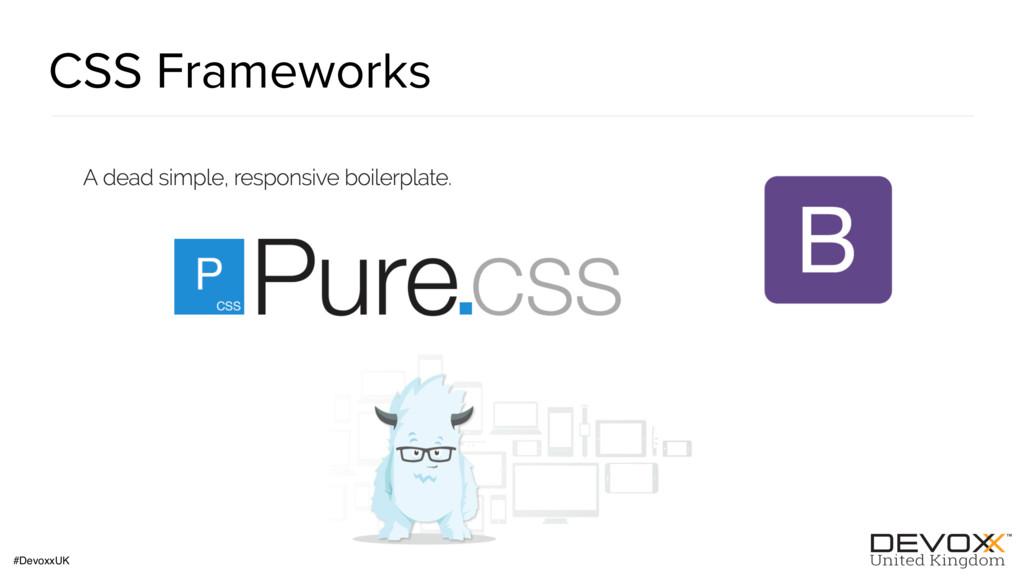 #DevoxxUK CSS Frameworks
