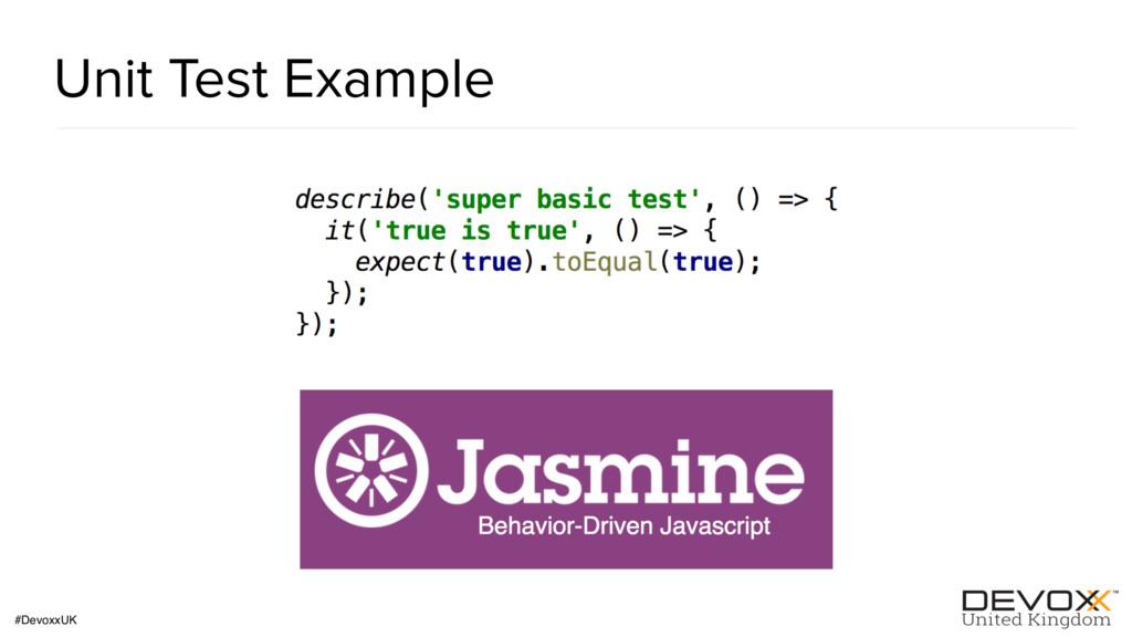 #DevoxxUK Unit Test Example