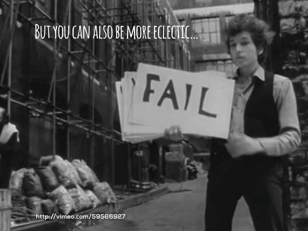 But you can also be more eclectic… http://vimeo...