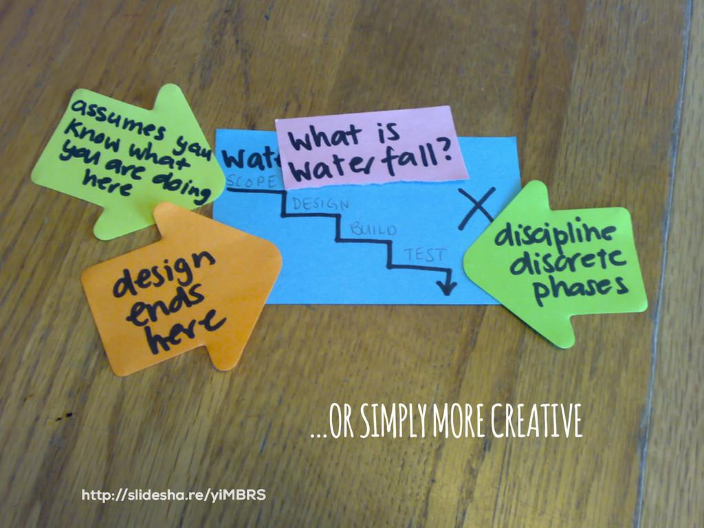 …OR SIMPLY MORE CREATIVE http://slidesha.re/yiM...
