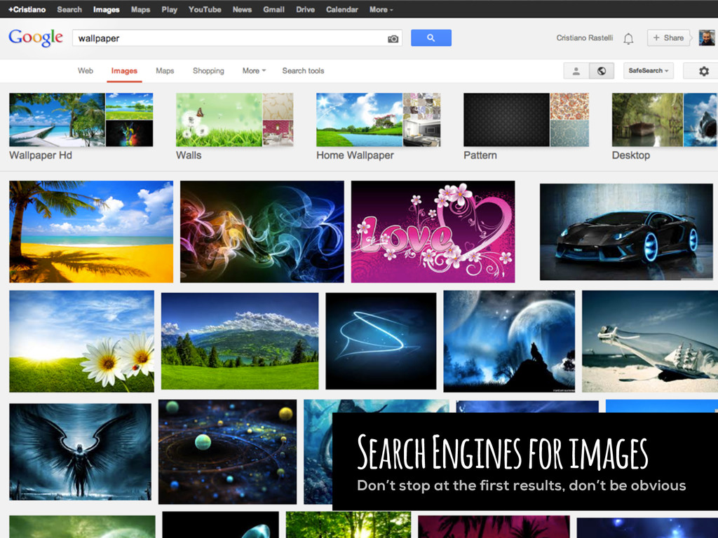 Search Engines for images Don't stop at the fir...