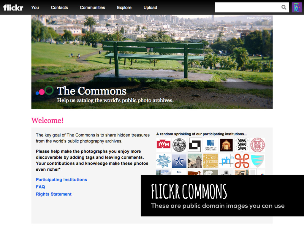 FLICKR COMMONS These are public domain images y...