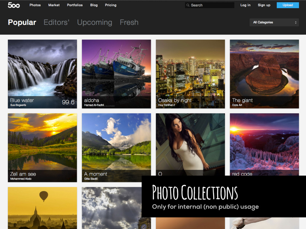Photo Collections Only for internal (non public...