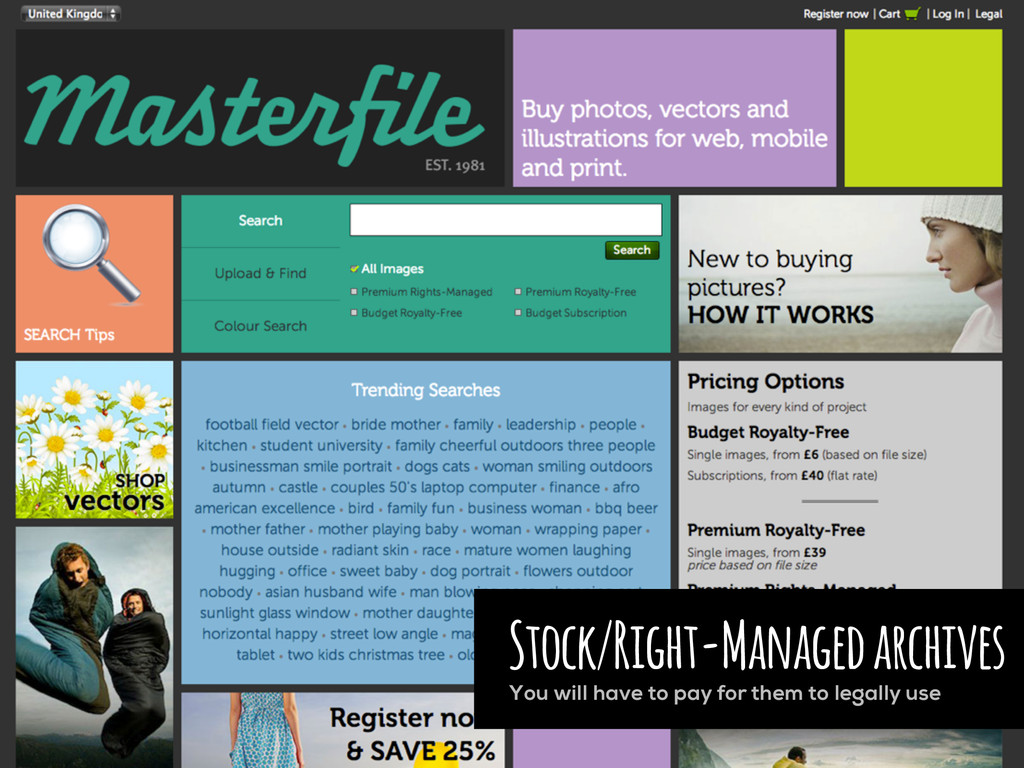 Stock/Right-Managed archives You will have to p...