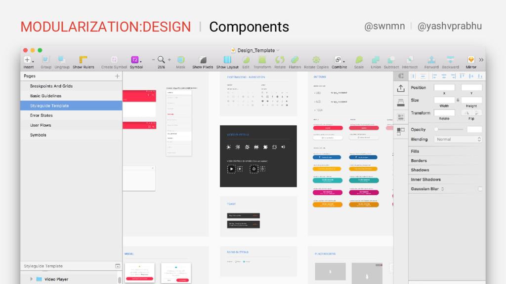 MODULARIZATION:DESIGN I Components @swnmn I @ya...