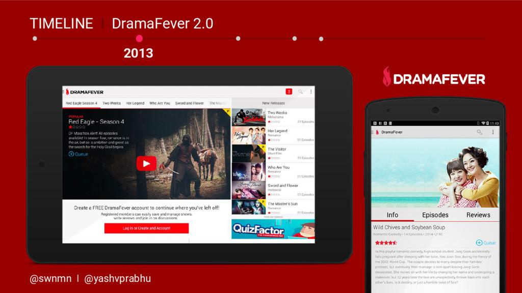 2013 TIMELINE I DramaFever 2.0 @swnmn I @yashvp...
