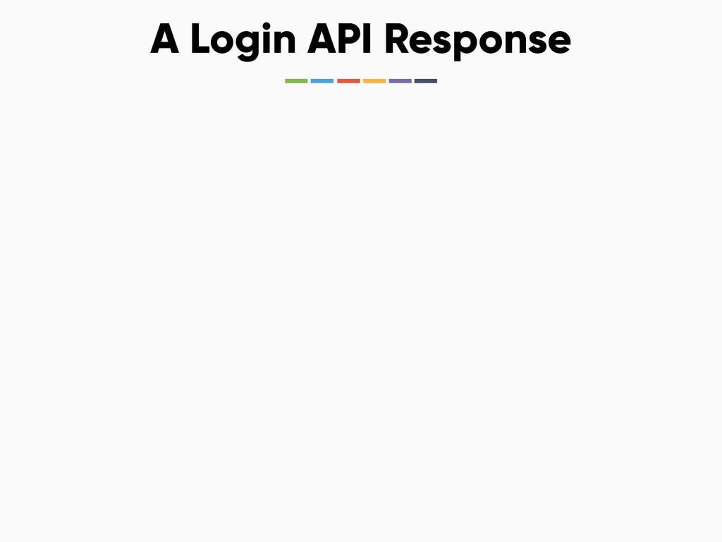 A Login API Response
