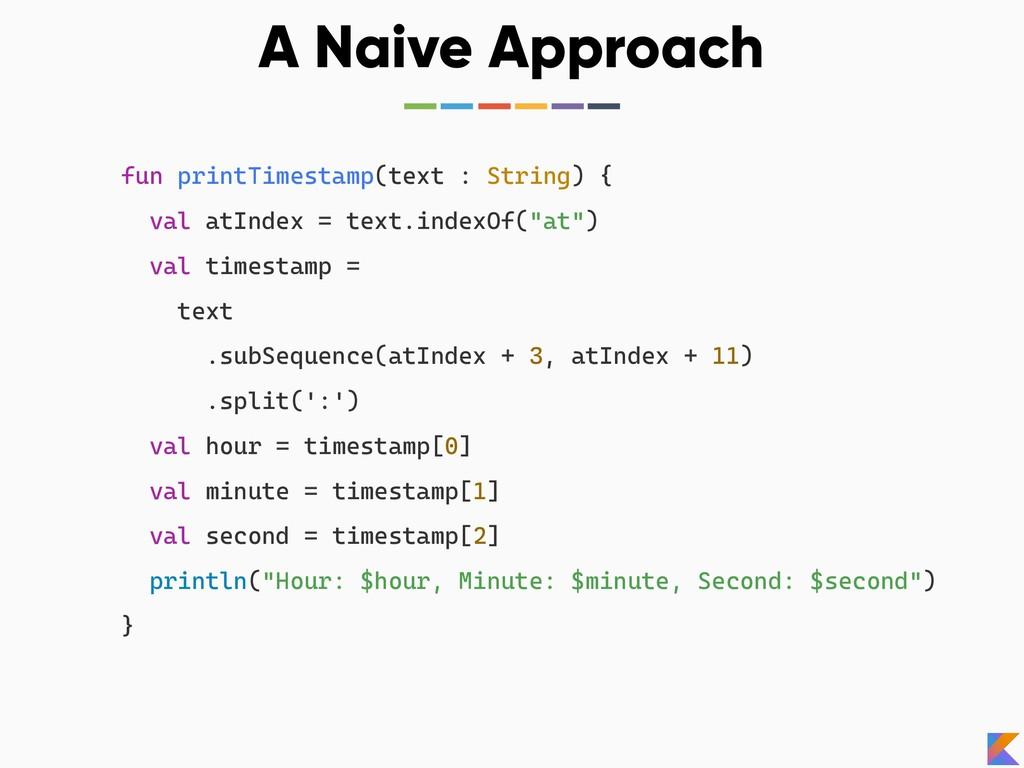 fun printTimestamp(text : String) { val atIndex...