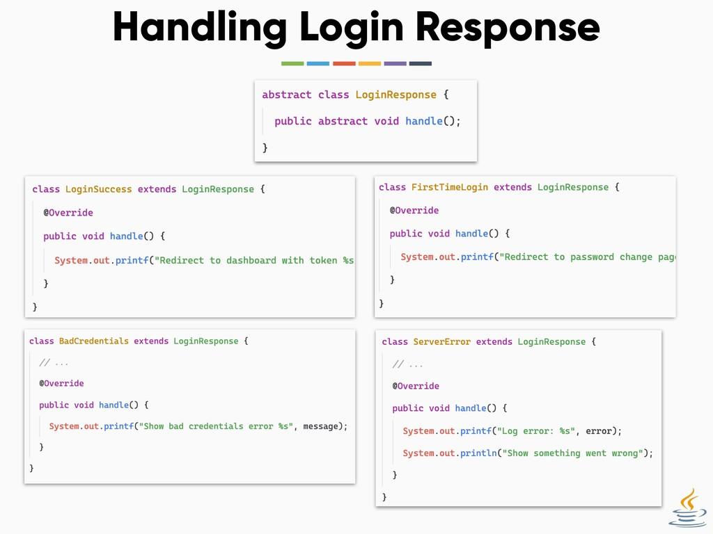 Handling Login Response