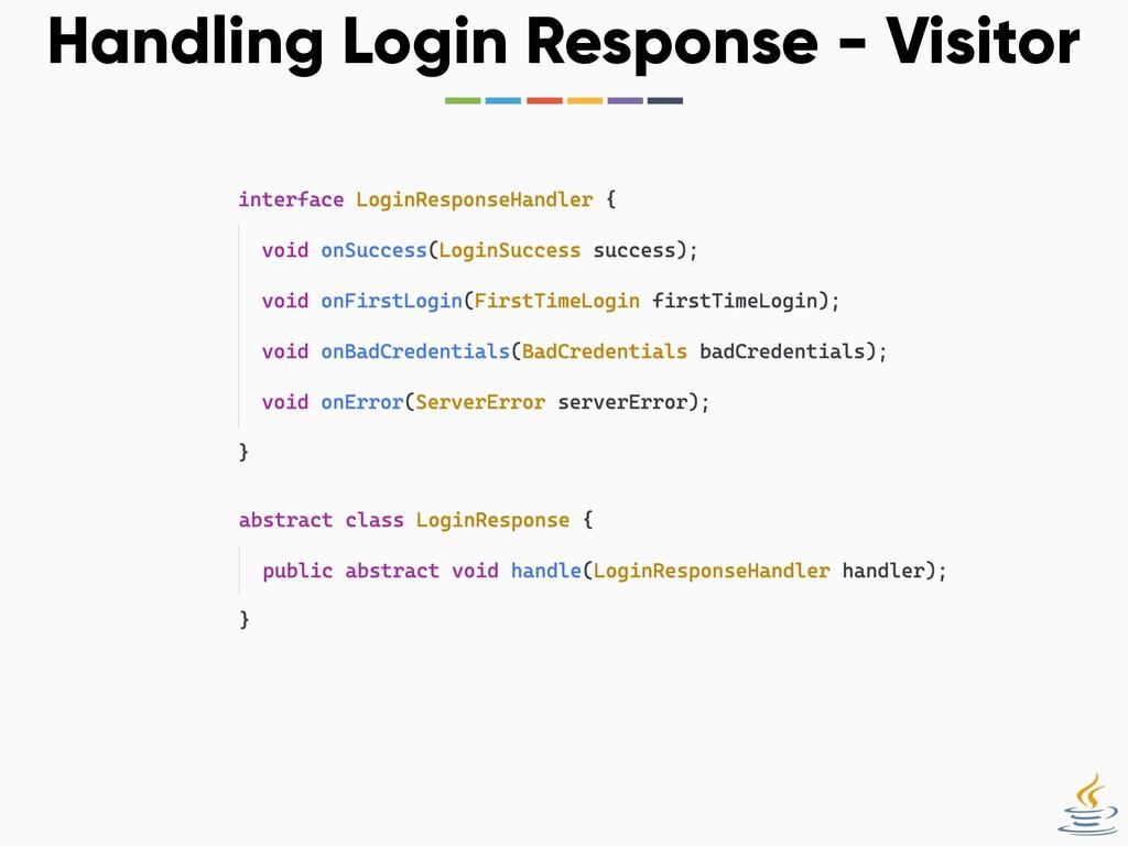 Handling Login Response - Visitor
