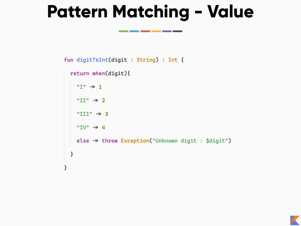 Pattern Matching - Value