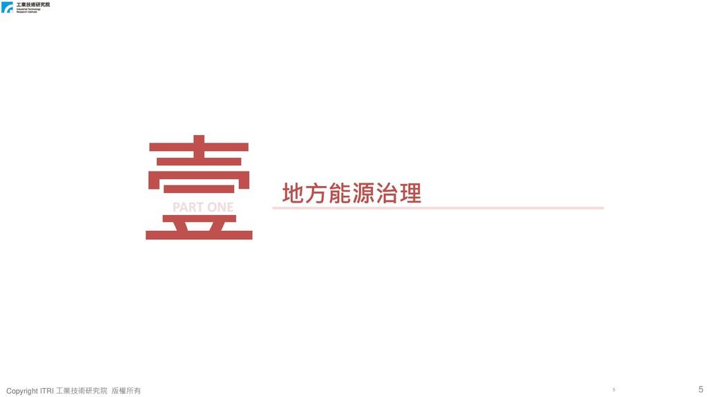 5 Copyright ITRI 工業技術研究院 版權所有 Copyright ITRI 工業...