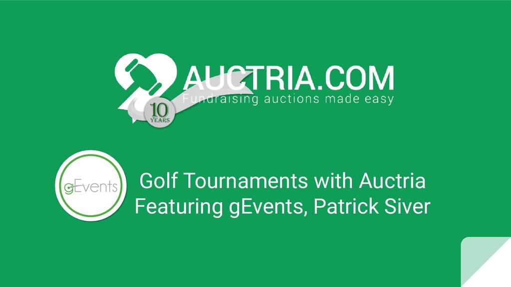 Golf Tournaments with Auctria Featuring gEvents...