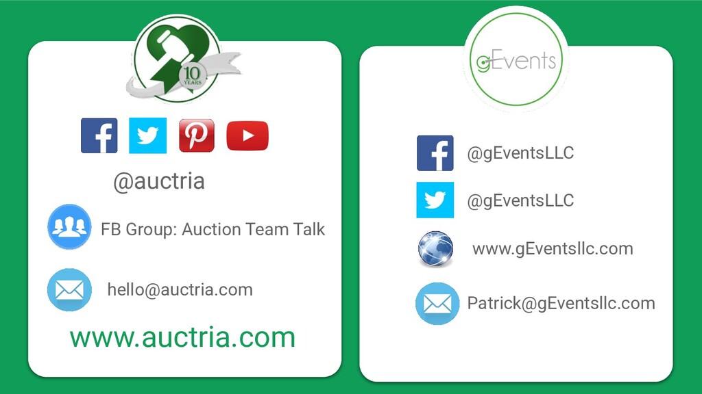 @auctria hello@auctria.com FB Group: Auction Te...