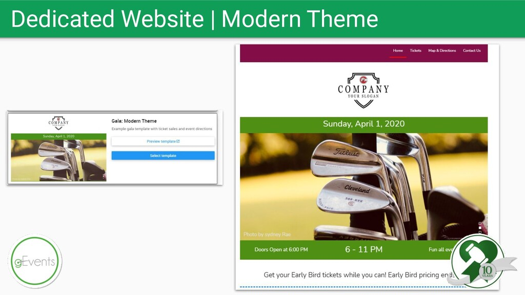 Dedicated Website   Modern Theme