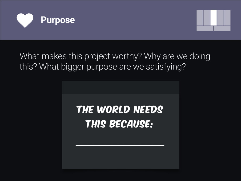 What makes this project worthy? Why are we doin...