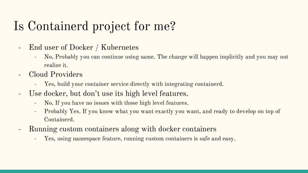 Is Containerd project for me? - End user of Doc...