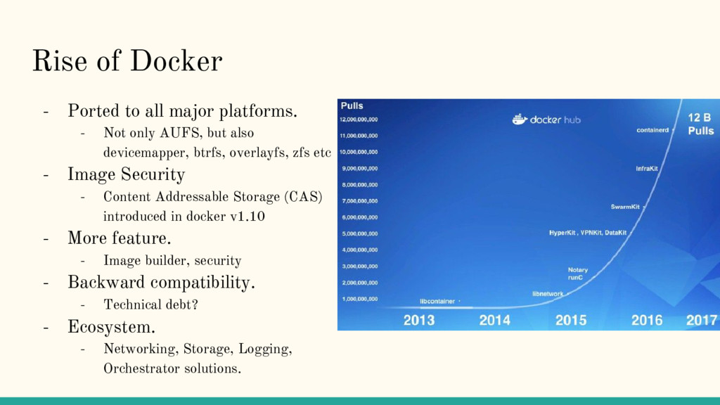 Rise of Docker - Ported to all major platforms....