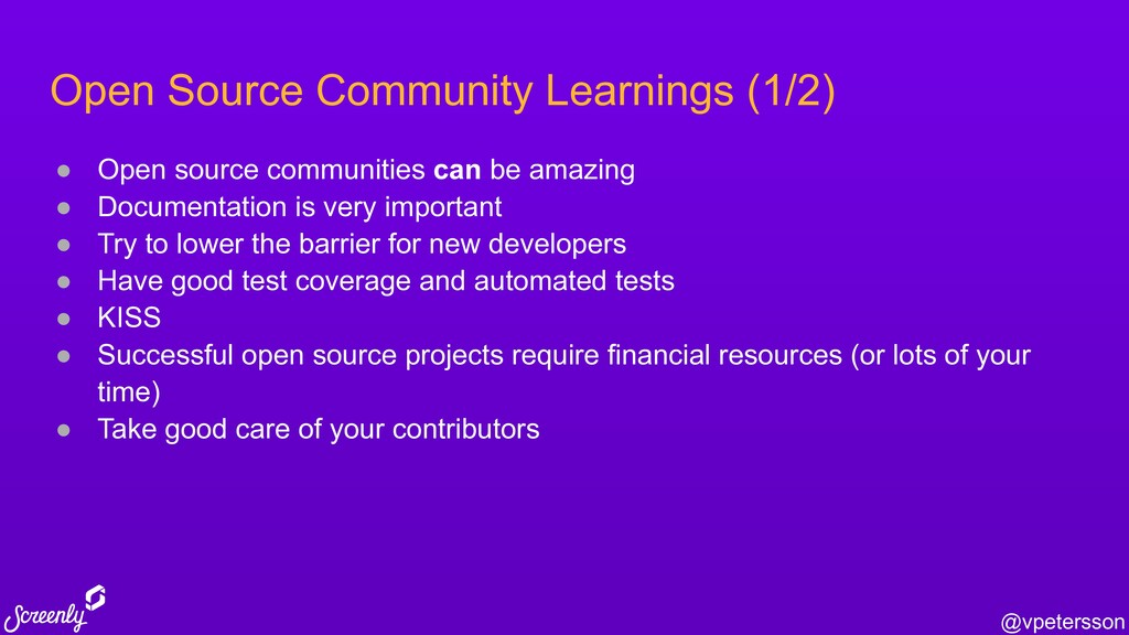 @vpetersson Open Source Community Learnings (1/...