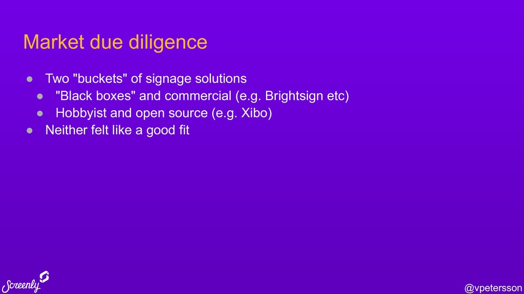 """@vpetersson Market due diligence ● Two """"buckets..."""