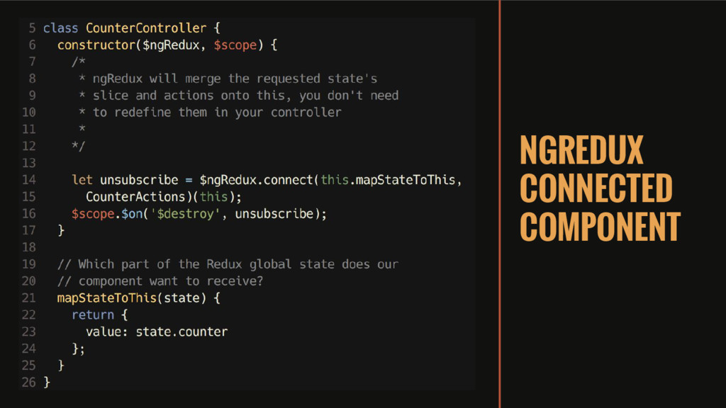 NGREDUX CONNECTED COMPONENT