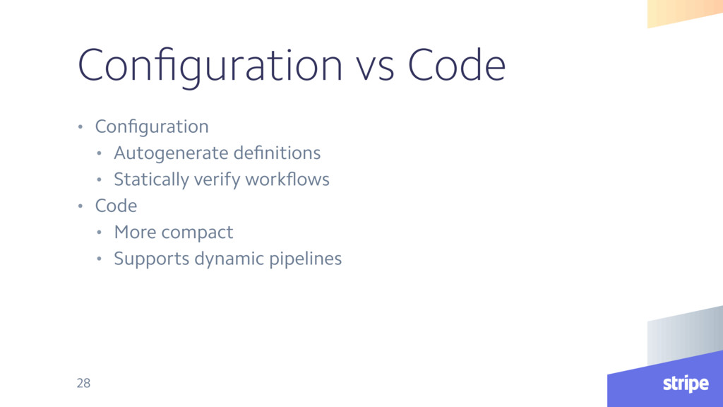 Configuration vs Code • Configuration • Autogener...