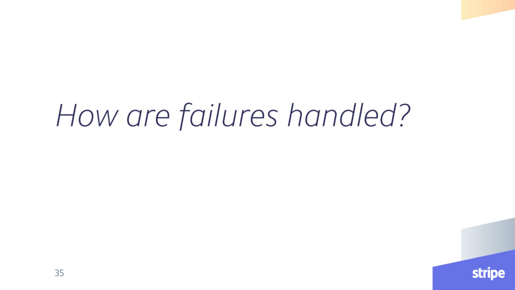 How are failures handled? 35