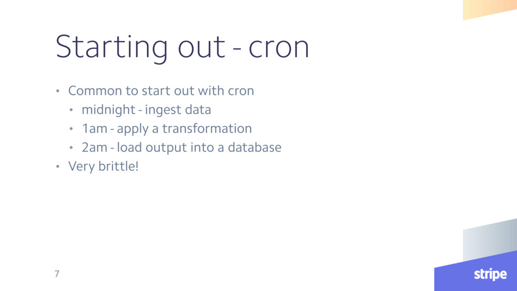 Starting out - cron • Common to start out with ...