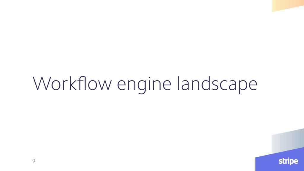 Workflow engine landscape 9