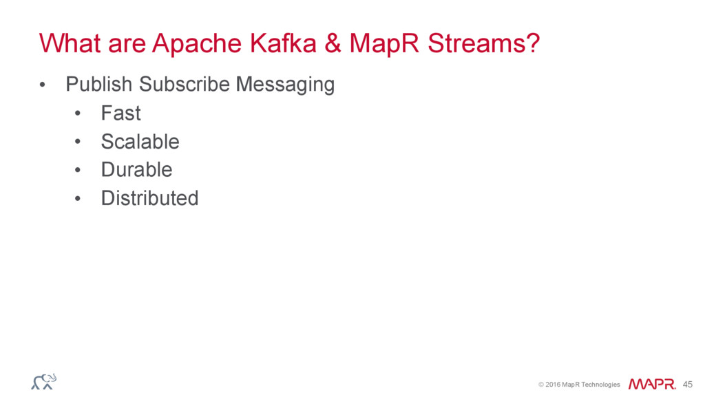 © 2016 MapR Technologies 45 What are Apache Kaf...