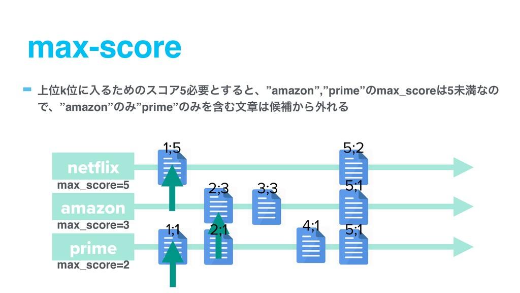 """max-score - ্ҐkҐʹೖΔͨΊͷείΞ5ඞཁͱ͢Δͱɺ""""amazon"""",""""prim..."""