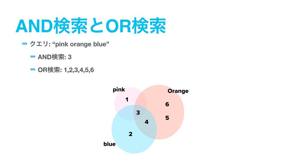 "ANDݕࡧͱORݕࡧ -ΫΤϦ: ""pink orange blue"" -ANDݕࡧ: 3 -..."