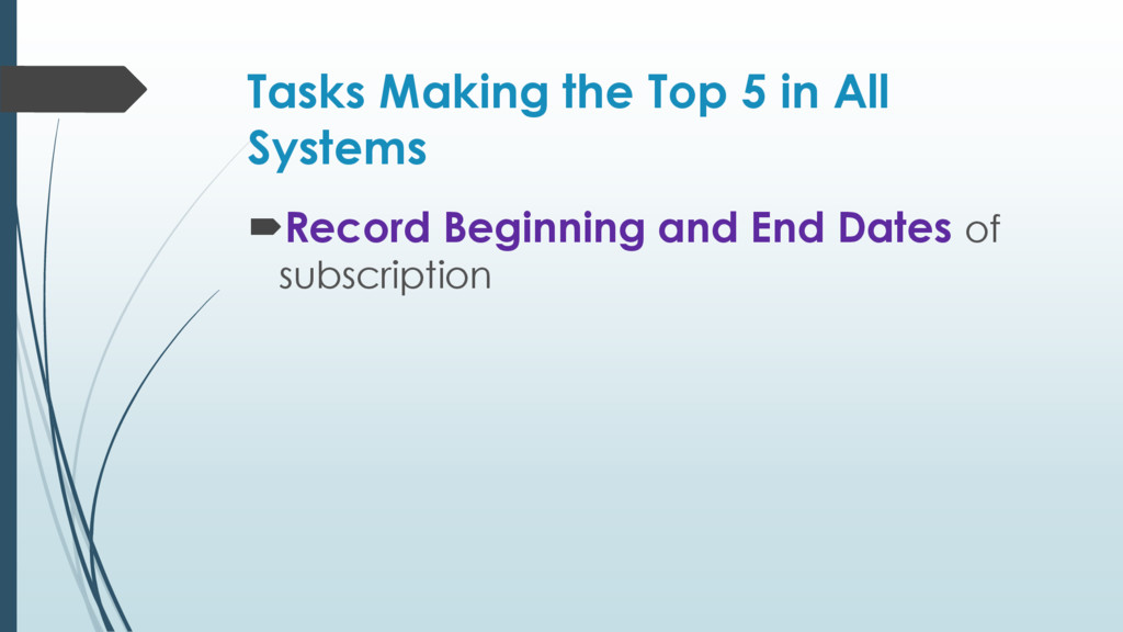 Tasks Making the Top 5 in All Systems Record B...