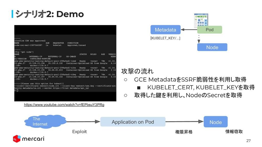 27 シナリオ2: Demo Metadata Pod Node [KUBELET_KEY/....