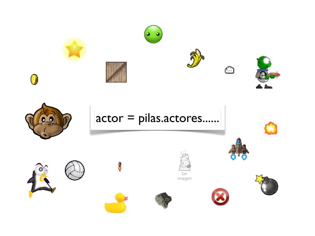 actor = pilas.actores......