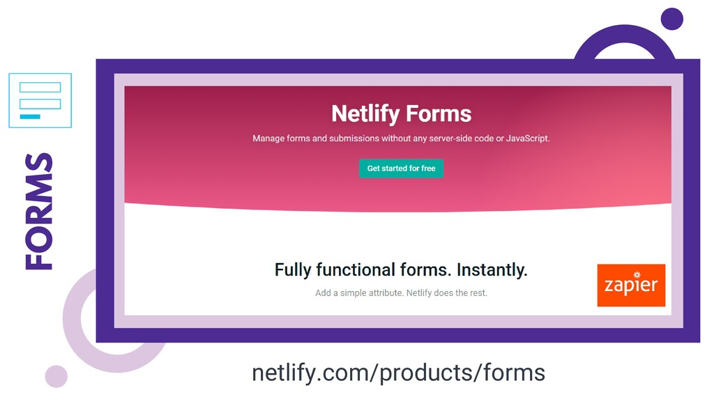 FORMS netlify.com/products/forms