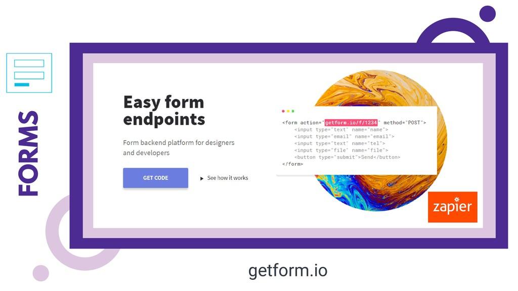 FORMS getform.io