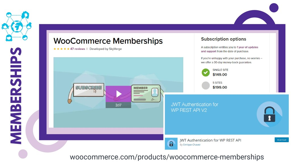 MEMBERSHIPS woocommerce.com/products/woocommerc...