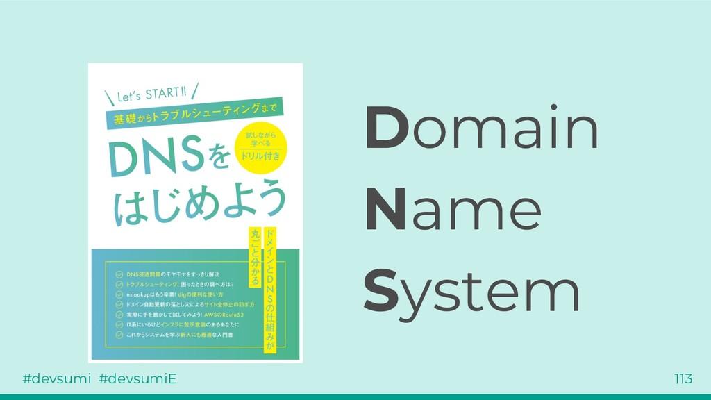 #devsumi #devsumiE 113 Domain Name System