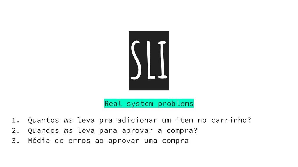SLI Real system problems 1. Quantos ms leva pra...