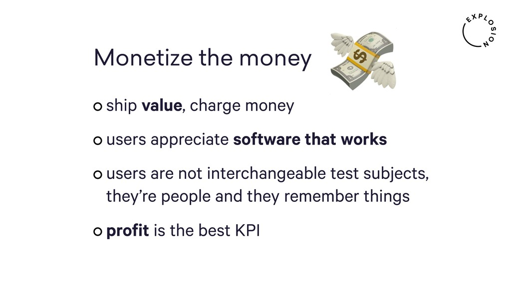 Monetize the money ship value, charge money use...