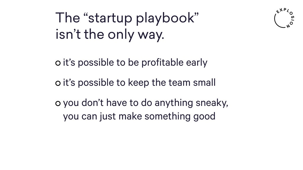 "The ""startup playbook"" 
