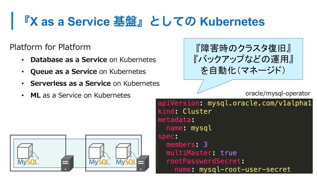 ʰX as a Service ج൫ʱͱͯ͠ͷ Kubernetes Platform for...