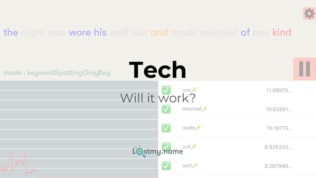 Tech Will it work?