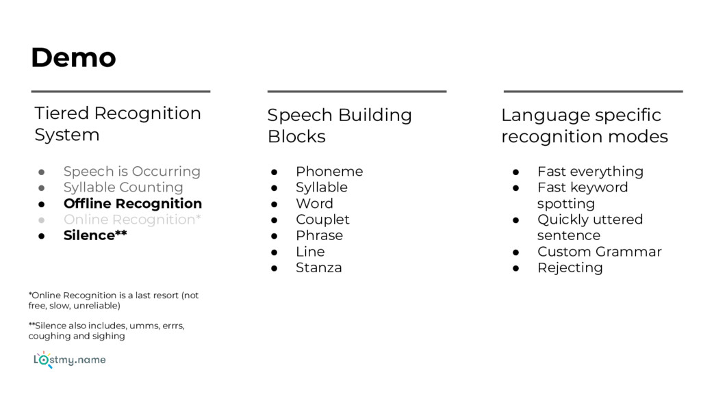Demo Tiered Recognition System Speech Building ...