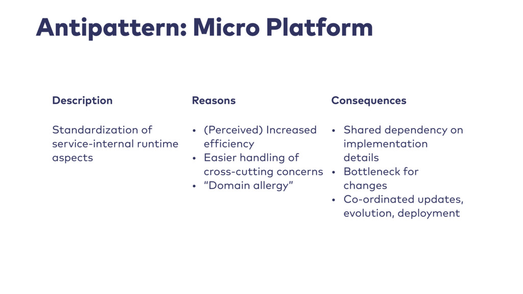 Antipattern: Micro Platform Description Reasons...