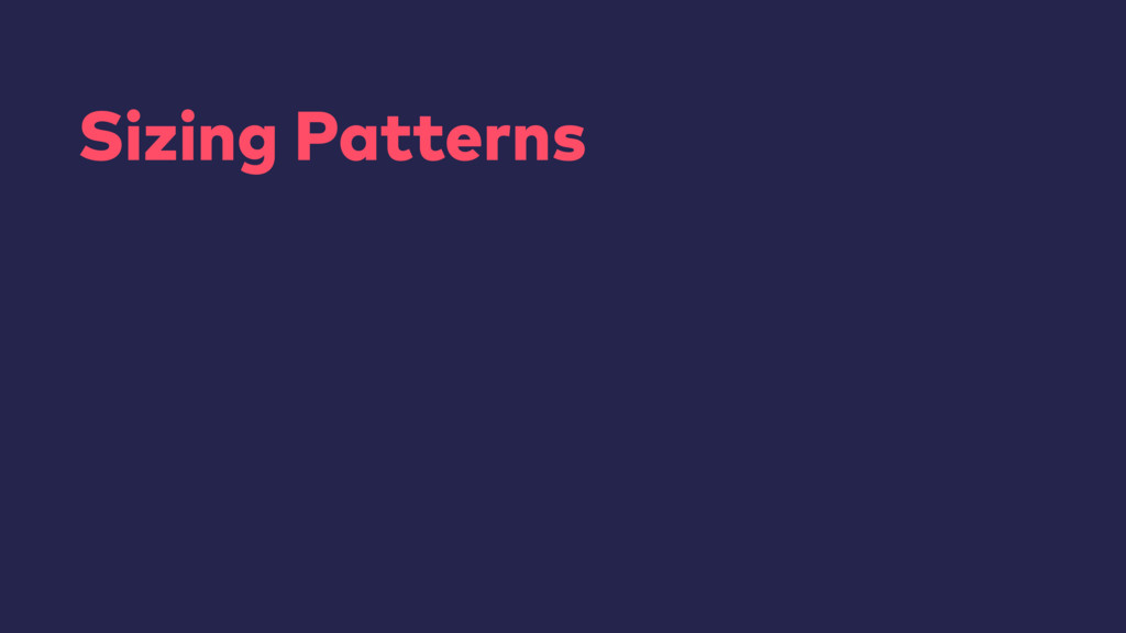 Sizing Patterns